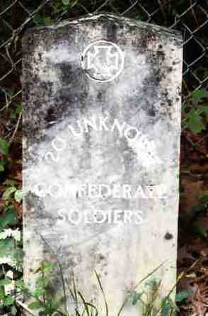 Bethel Church Unknown Confederate Soldiers Grave Marker